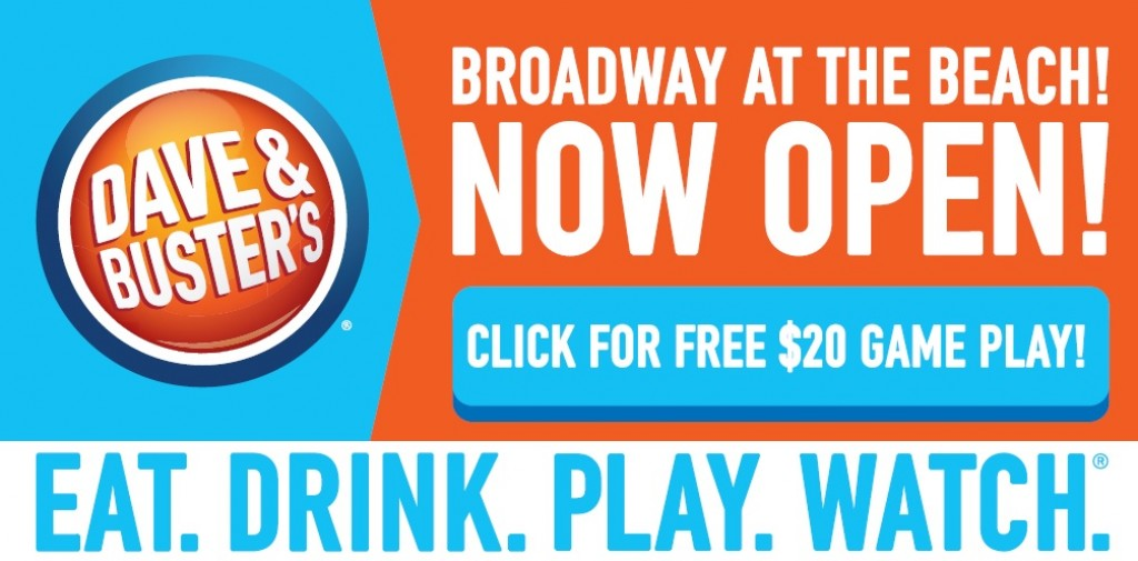 Dave & Buster's Now Open at Broadway at the Beach