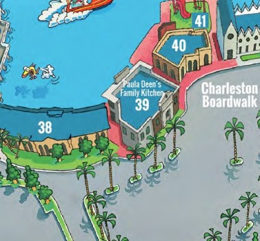 The Paula Deen Map Location At Broadway Beach