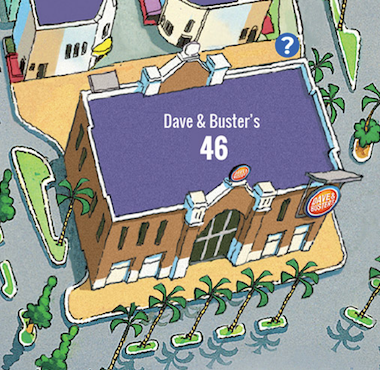 Dave & Buster's Map Location at Broadway at the Beach