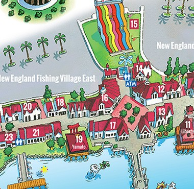 Map Of Broadway At The Beach Tsunami Surf Shop | Broadway at the Beach