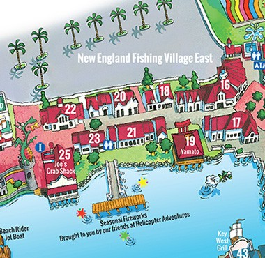 Broadway At The Beach Map So Unique! | Broadway at the Beach Broadway At The Beach Map